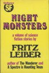 Night Monsters - Gollancz HB